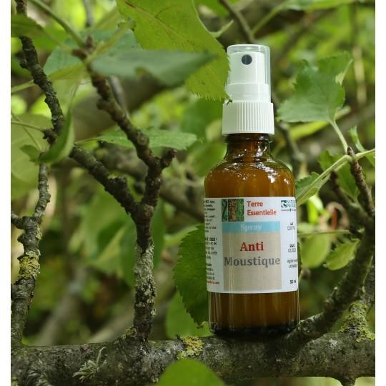 Spray d'huiles essentielles anti-moustique