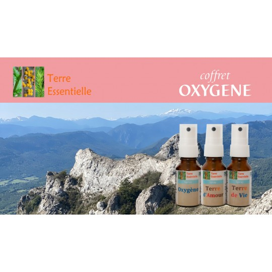 Coffret oxygène 3 sprays d'huiles essentielles